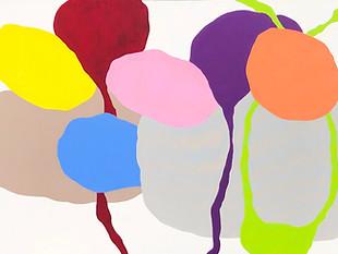 """Sous Le Pont 2020, 30""""x 48"""" acrylic on canvas"""