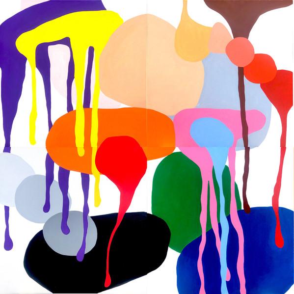 "A Love Supreme 2021,  72""x 72"" acrylic on canvas"