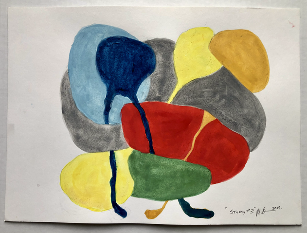 """Study #3 2019, 11""""x 15"""" watercolour on paper"""
