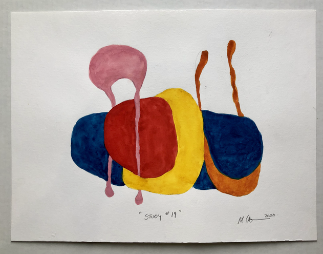 """Study #19 2020, 12""""x 16"""" watercolour on paper"""