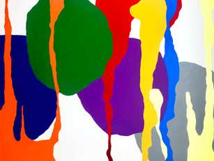 "Metaphor at a Distance 2020, 66""x 75"" acrylic on canvas"