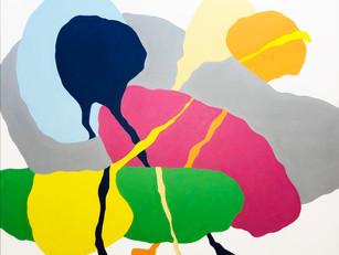 "Landing 2019, 48""x 60"" acrylic on canvas"
