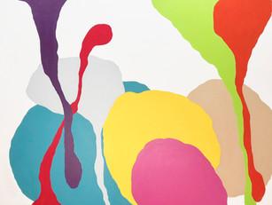 "Versus-Antithesis 2018  48""x 60"" acrylic on canvas"