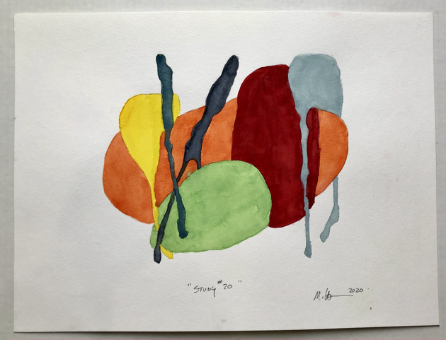 """Study #20 2020, 12""""x 16"""" watercolour on paper"""