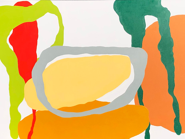"Rhapsody in Light Yellow 2020, 30""x 48"" acrylic on canvas"