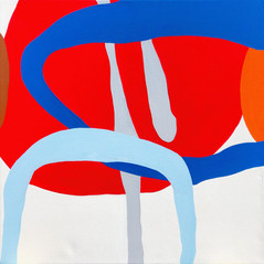 """Unit Structures (Section) 2021  30""""x 30"""" acrylic on canvas"""