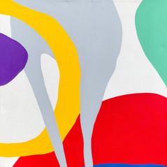 "Unit Structures (Enter, Evening) 2021  30""x 30"" acrylic on canvas"