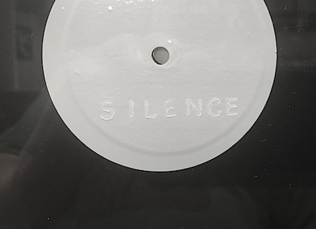 Silence 2018  Detail of label