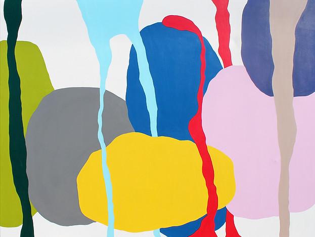 "Attracteurs Etranges  2020, 75""x 96"" acrylic on canvas"