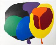 "Radar Love 2019, 16""x 20"" acrylic on canvas"
