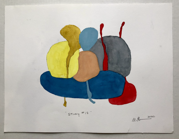 """Study #17 2020, 12""""x 16"""" watercolour on paper"""