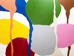 """Comme de Loin et Encore  2020, 60""""x 72"""" acrylic on canvas"""