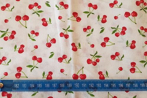 028. Cherry heart sur fond blanc