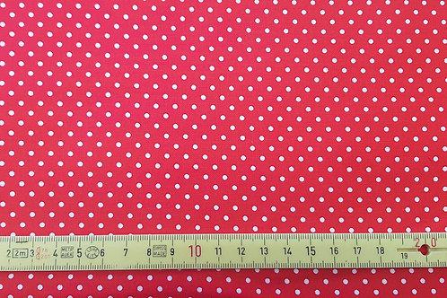 005. Mini polka dots on red
