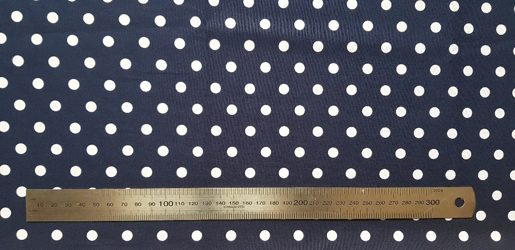 115. White dots on navy