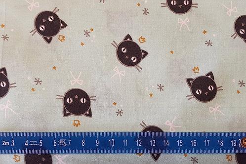027. Kitty Cat sur fond aqua