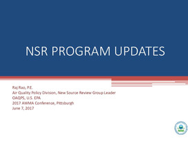 EPA NSR Chief Outlines NSR Changes at 2017 AWMA Conference