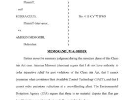 "EPA wins ""relief"" skirmish in Ameren Missouri case"