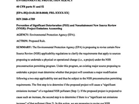 "EPA Proposes ""Project Emissions Accounting"" Rule"