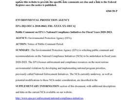 EPA Proposes to Discontinue NSR Enforcement Initiative