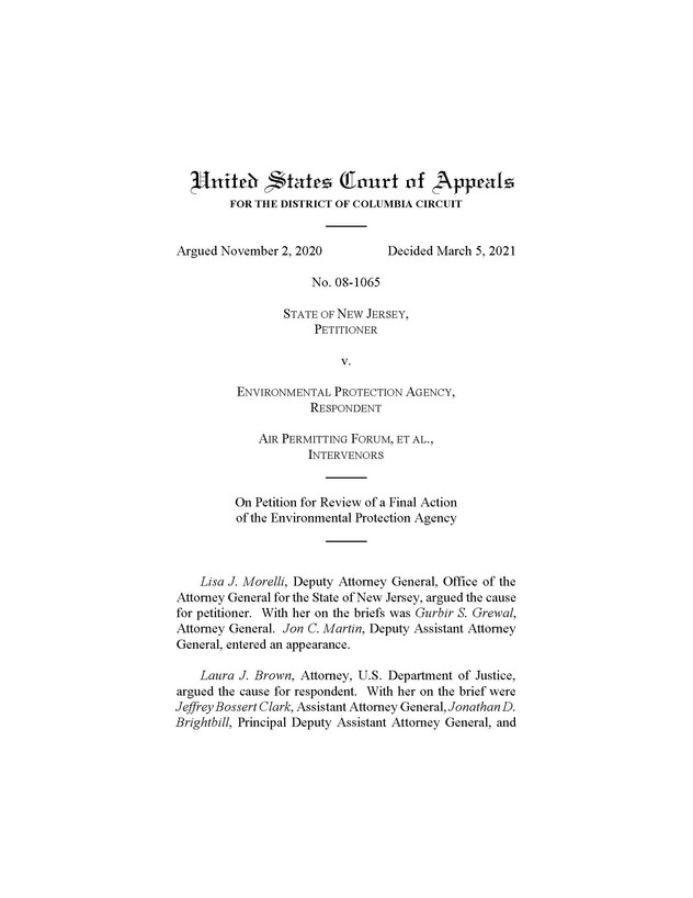 """DC Circuit Upholds NSR """"Reasonable Possibility"""" Test"""