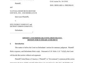 The DTE Energy Saga: Part 1 – District Court, First Round