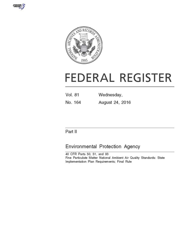 PM2.5 Implementation Rule Changes NNSR Permit Requirements