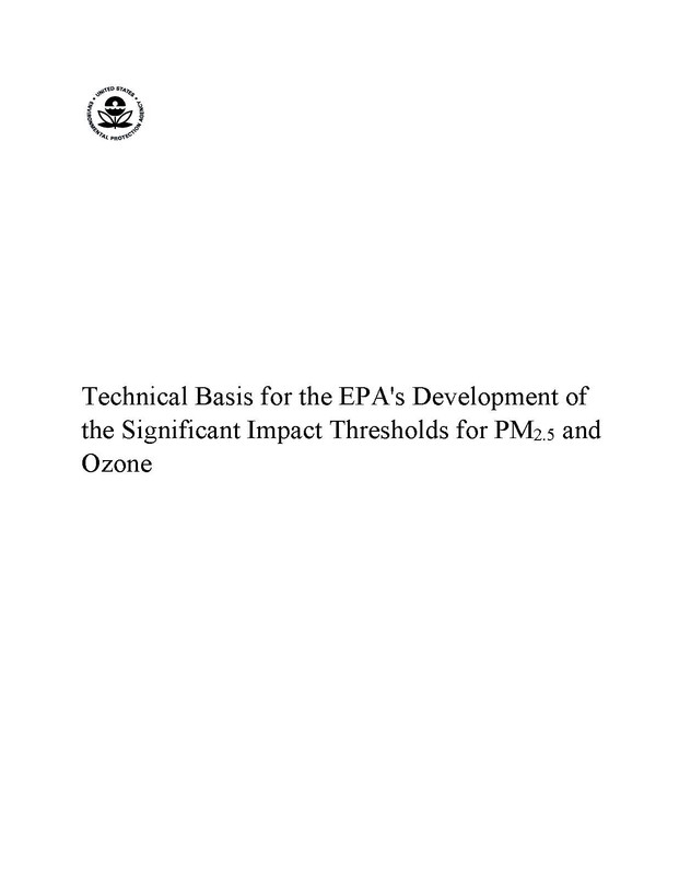 New EPA SILs: Part 2 - Technical Basis