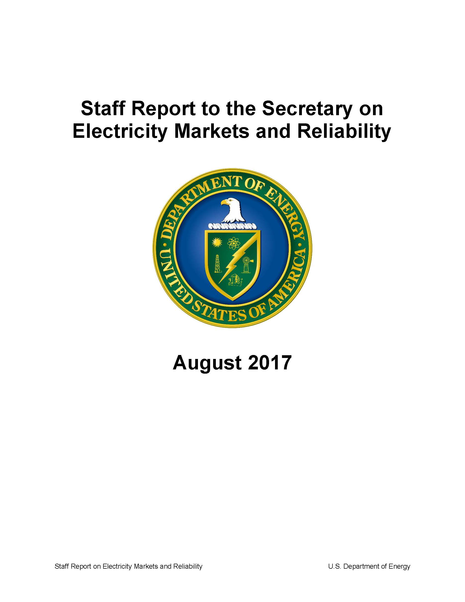 DOE Staff Finds NSR Contributed to Loss of Baseload Generation – Staff Report