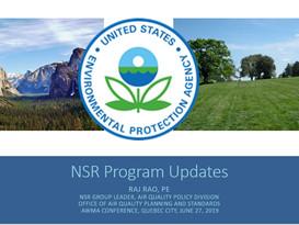 EPA NSR Chief Reports on Progress, Plans