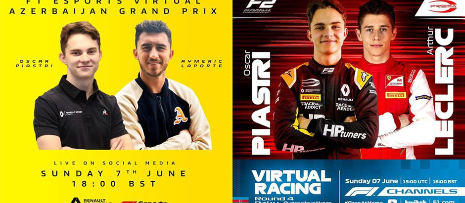Oscar wins F2 Virtual GP, finishes 5th in F1 Virtual GP!