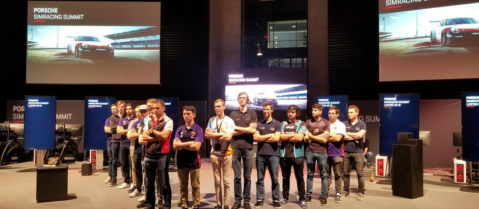 Andrew & Marin at the Porsche SimRacing Summit in Leipzig!