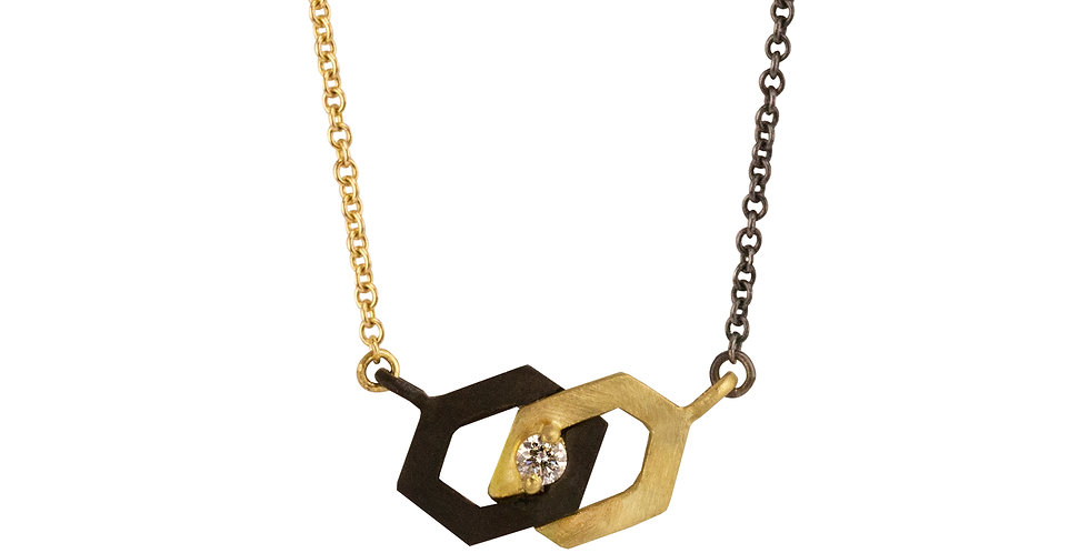 Hex Interlock Diamond Necklace