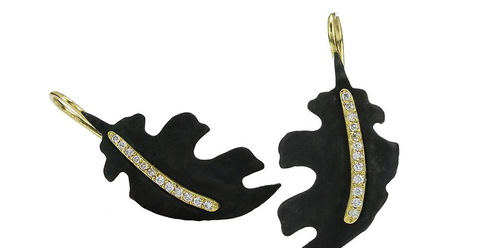 Oak Leaf Diamond Earrings