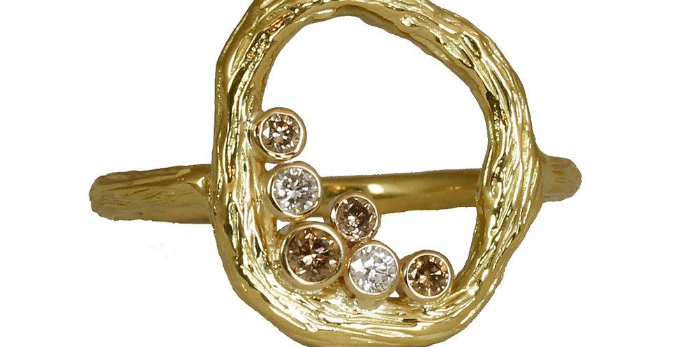 Pebble Diamond Small Circle Ring