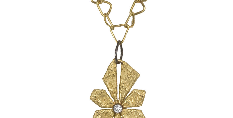 Trigon Sunburst Diamond Necklace/Pendant