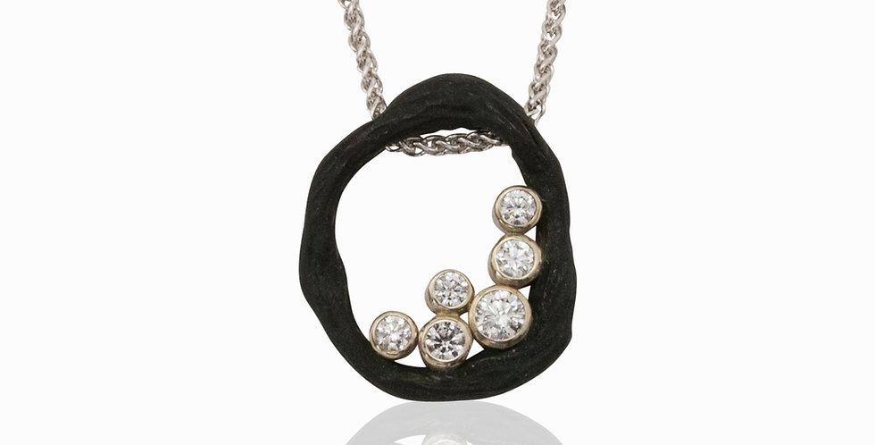 Pebble Single Link Diamond Necklace