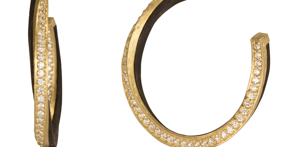 Eclipse 24mm Diamond Hoop Earrings