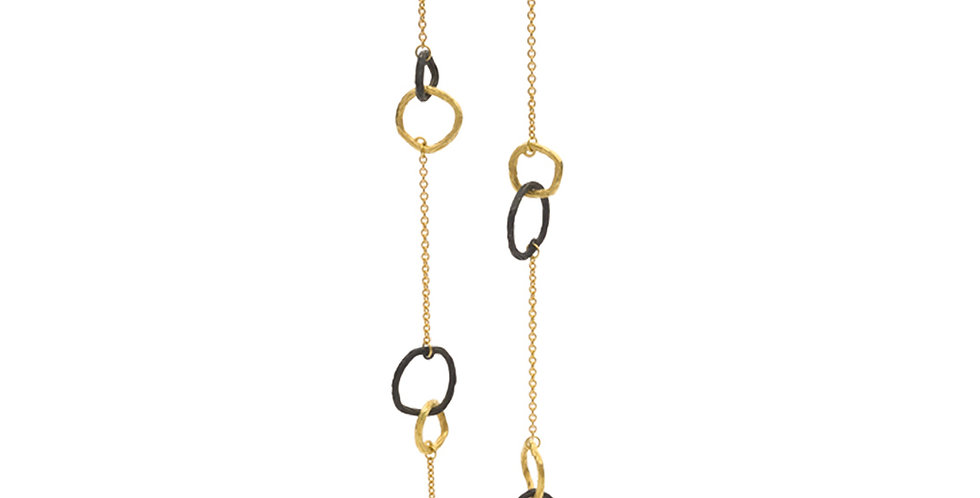 Pebble Double Link Necklace