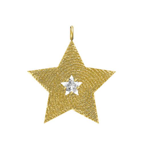 Star Cutout Diamond Pendant