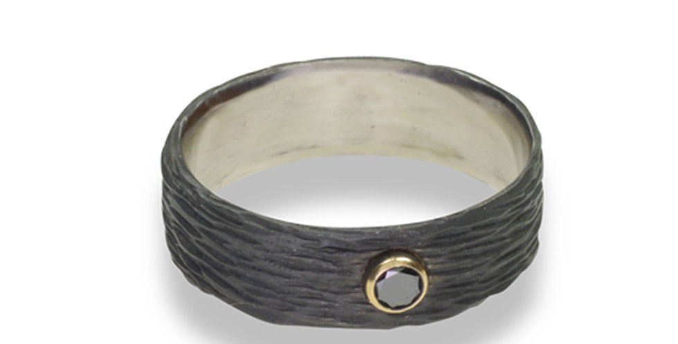 Pebble Diamond Wide Band