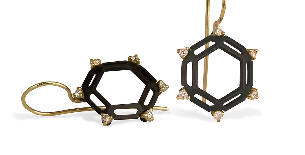 Hex Hive Diamond Earrings