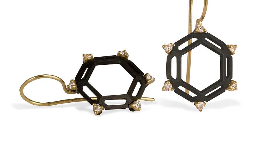 Hex Hive Diamond Earrings