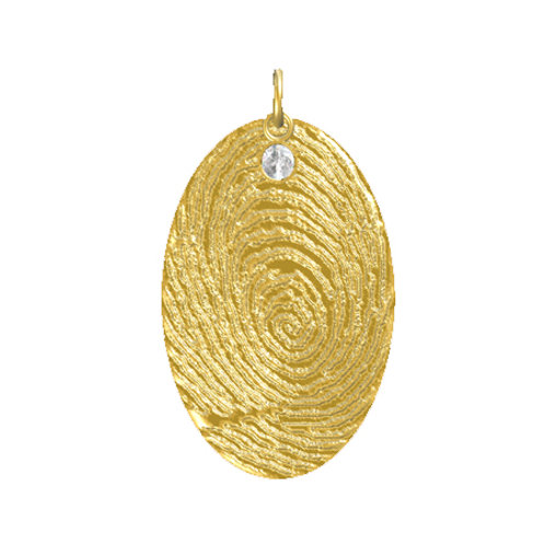 Oval Disk Layered Diamond Pendant