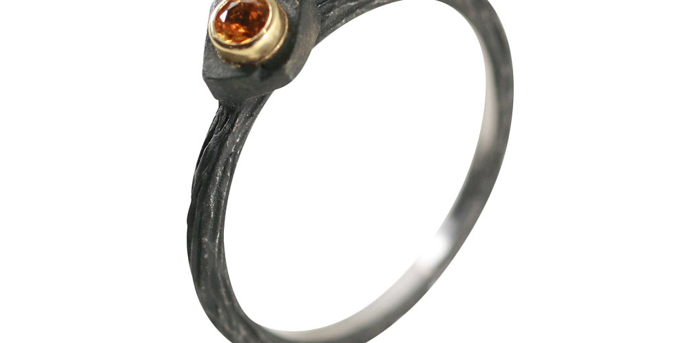 Iron Saphire Stacking Ring