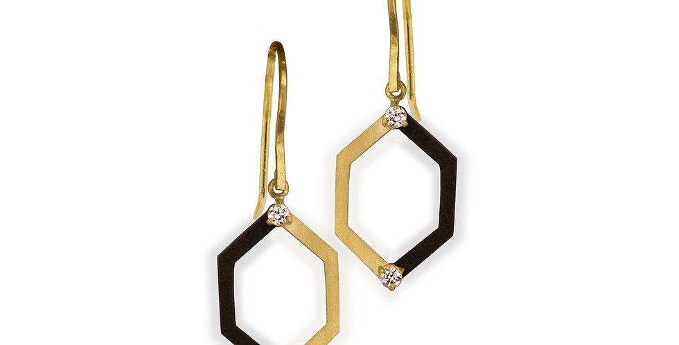Hex Harlequin Diamond Earrings