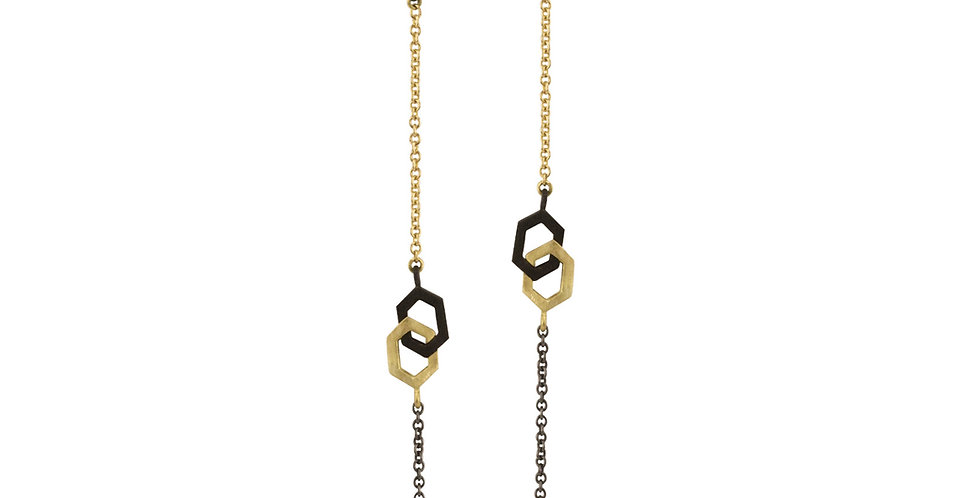 Hex Interlock Seven Station Necklace