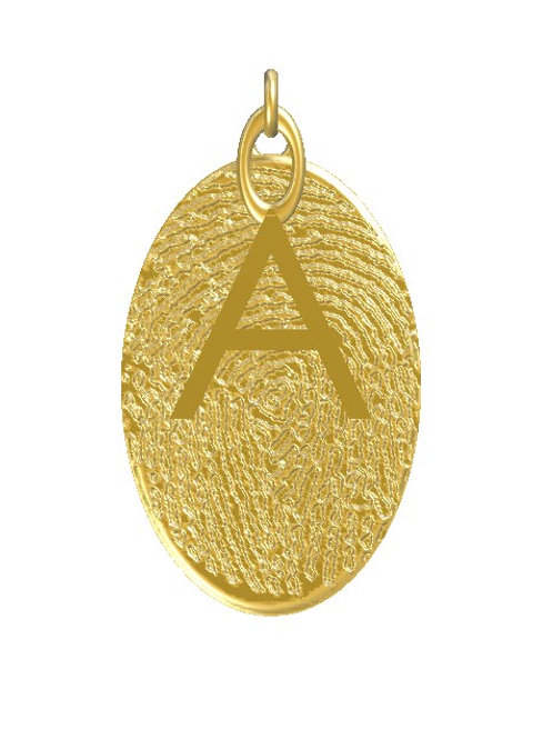 Oval Initial Pendant