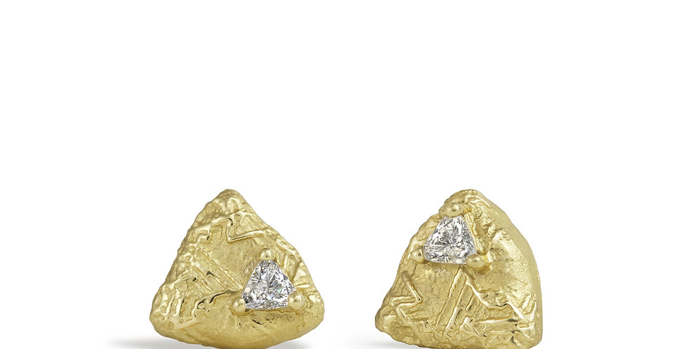 Trigon Diamond Stud Earring