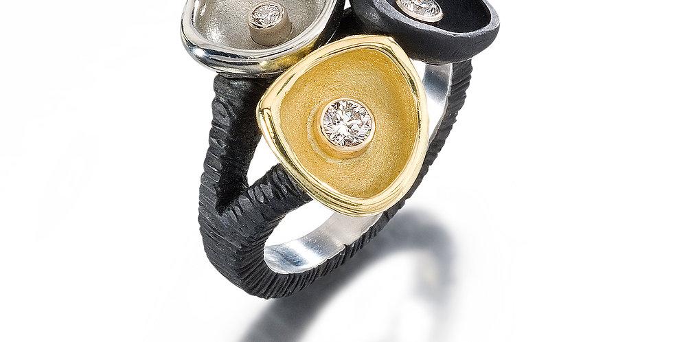 Confluence Three Cup Diamond Ring